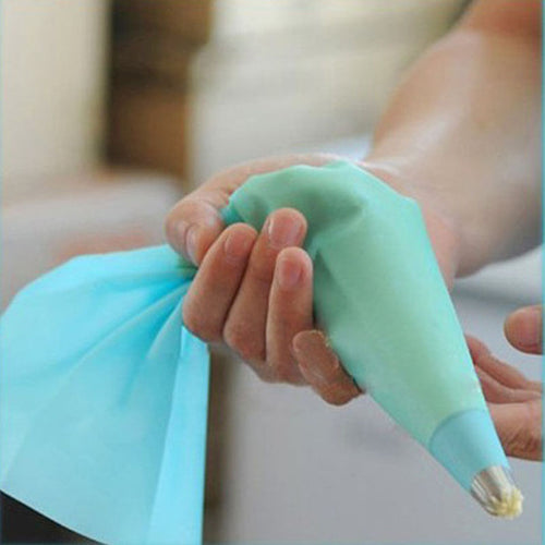 Blue Silicone Piping Bag