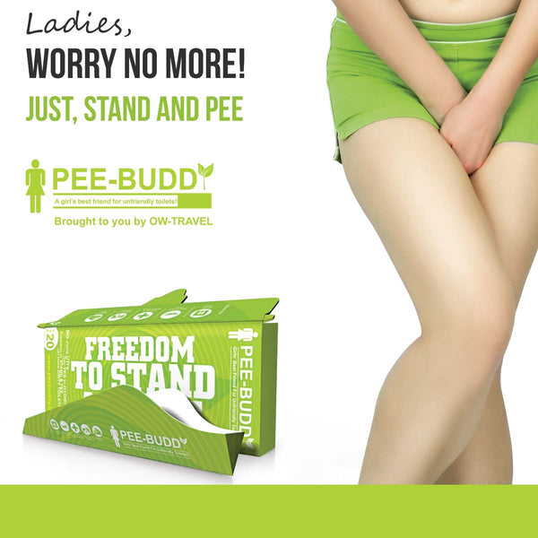 ✅ PeeBuddy by One-Wear - Disposable Female Urination Device - FREEDOM TO STAND AND PEE & WEE - For: Camping, Road Trips, Festivals and Concerts
