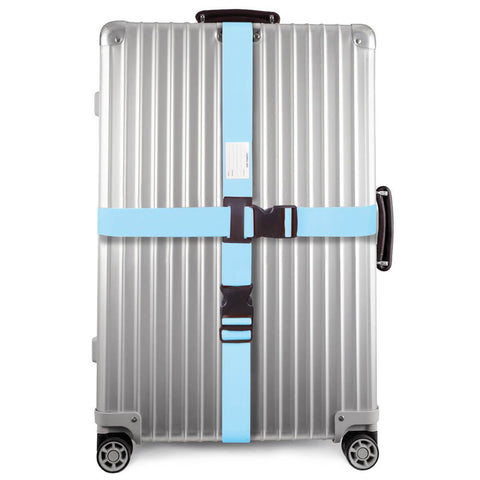 OW Travel Personalised Luggage Case Cross Straps for Suitcases and Luggage - Blue 1 Pack - Suitcase with Heavy Duty Luggage Strap