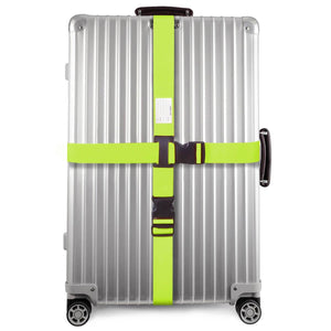 OW Travel Personalised Luggage Case Cross Straps for Suitcases and Luggage - Green 1 Pack - Suitcase with Heavy Duty Luggage Strap