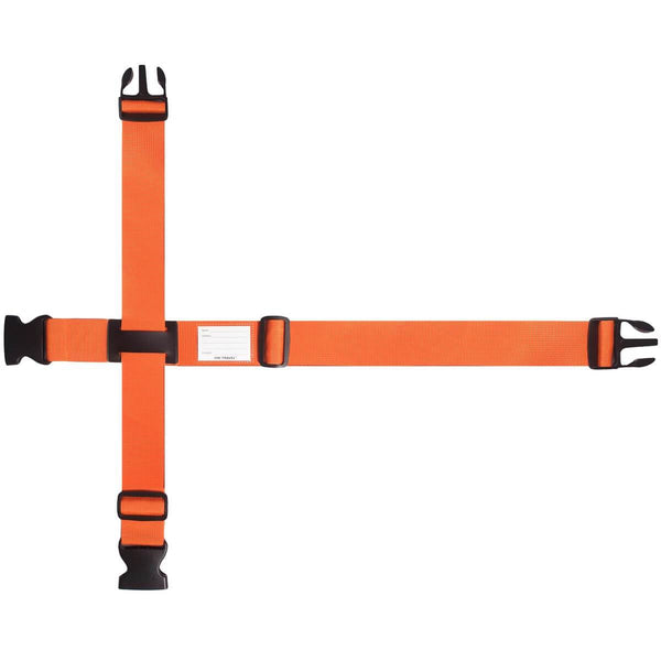 OW Travel Personalised Luggage Case Cross Straps for Suitcases and Luggage - Orange - Brightly Coloured Luggage Strap