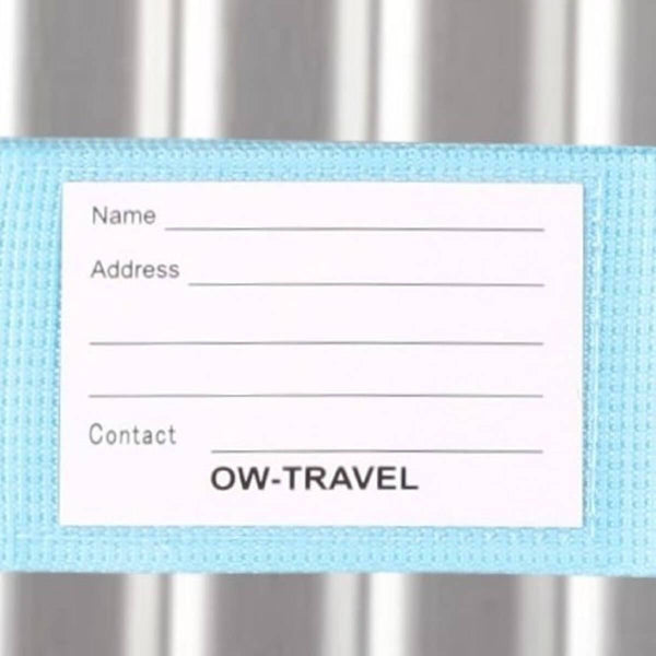 OW Travel Personalised Luggage Case Straps For Suitcases And Luggage Travel Accessories - Blue - Personalised Baggage Claim Identifier Luggage Strap