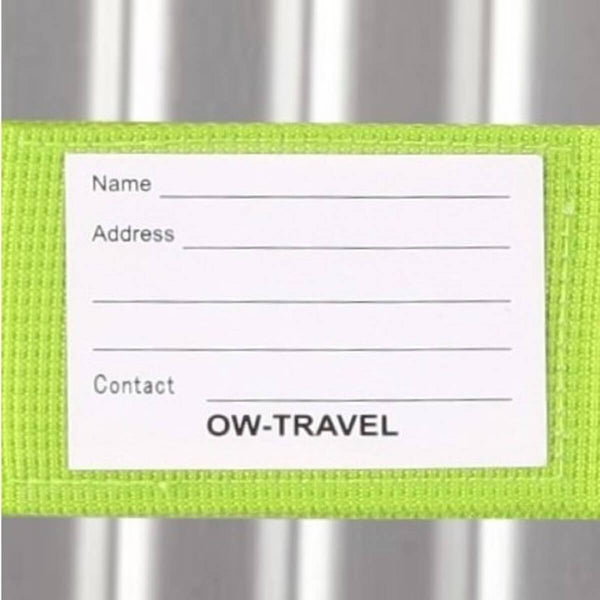 OW Travel Personalised Luggage Case Straps For Suitcases And Luggage Travel Accessories - Green - Personalised Baggage Claim Identifier Luggage Strap