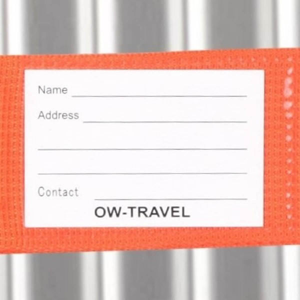 OW Travel Personalised Luggage Case Straps For Suitcases And Luggage Travel Accessories - Orange - Personalised Baggage Claim Identifier Luggage Strap