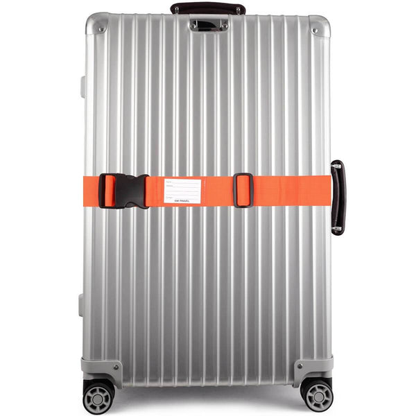 OW Travel Personalised Luggage Case Straps For Suitcases And Luggage Travel Accessories - Orange - Suitcase with Brightly Coloured Luggage Strap