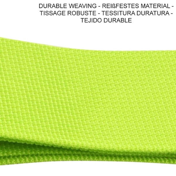 OW Travel Personalised Luggage Case Straps For Suitcases and Luggage Travel Accessories - Green - Durable Weaving Nylon Non Slip Luggage Straps
