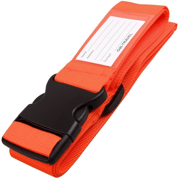 OW Travel Personalised Luggage Case Straps For Suitcases and Luggage Travel Accessories - Orange 1 Pack - Heavy Duty Luggage Straps