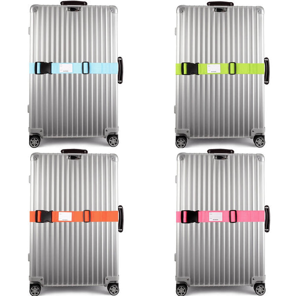 OW Travel Personalised Luggage Case Straps for Suitcases and Luggage Bag Travel Accessories - Multicolour - Suitcase with Brightly Coloured Luggage Strap