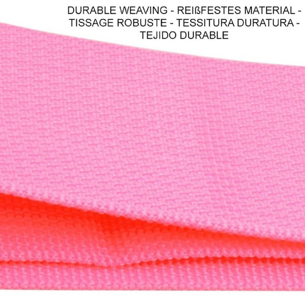 OW Travel Personalised Luggage Case Straps for Suitcases and Luggage Travel Accessories - Pink + Green 2 Pack - Durable Weaving Nylon Non Slip Luggage Straps