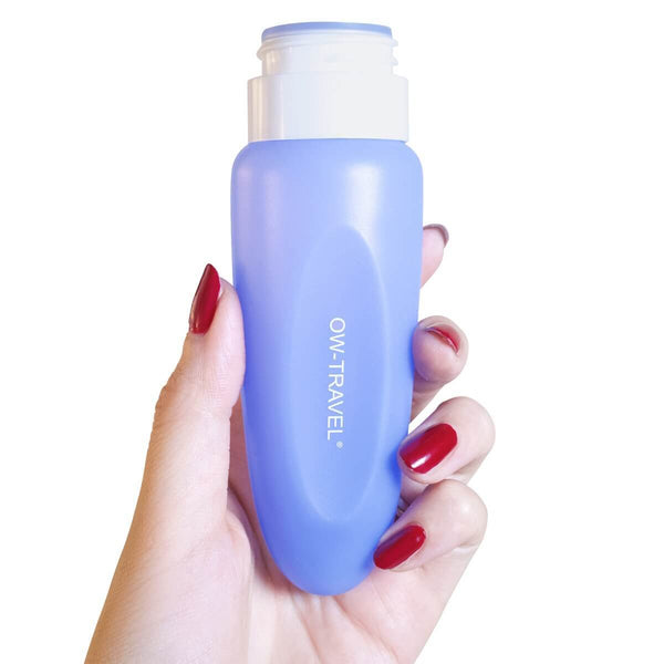 ✅ Silicone Travel Bottles - TSA Compliant Leakproof BPA Free Refillable Squeezable for Liquids Creams Lotions Travel Shampoo Conditioner - One-Wear