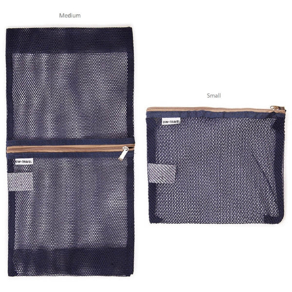 OW Travel Suitcase Packing Cubes Luggage Organisers for Clothes Bags and Wardrobes - Blue Mesh - Ultra Lightweight Mesh Bag