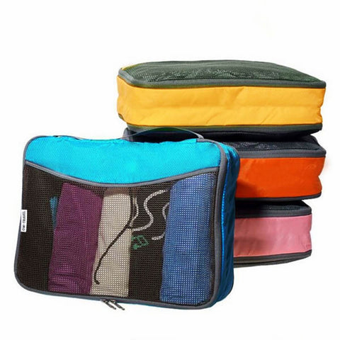 OW Travel Suitcase Packing Cubes Luggage Organisers for Clothes Bags and Wardrobes - Multicolour - Heavy Duty Space Saving Packing Cubes