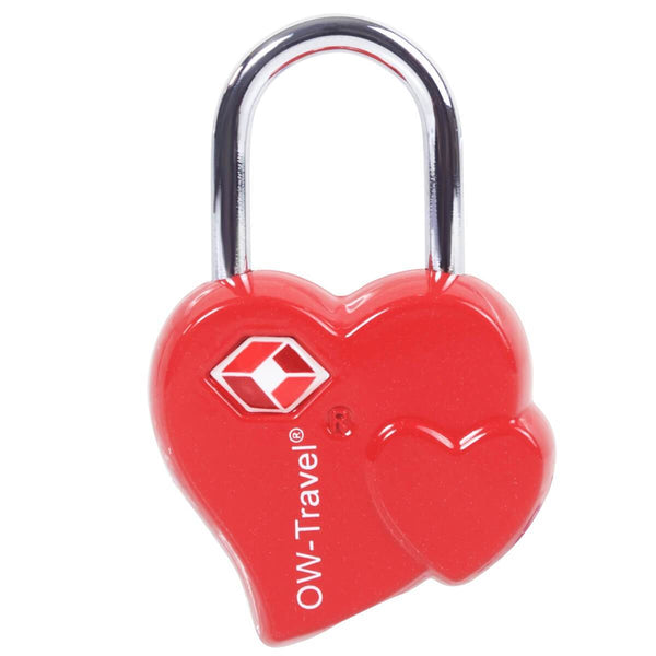 ✅ TSA Key Padlock Heart Shaped - Heavy Duty Lock - Travel Sentry Approved for Suitcases, Luggage, Gym Lockers and Tool Boxes - One-Wear