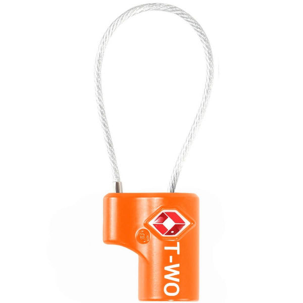 OW Travel TSA Approved Padlocks Luggage Case Locks for Suitcases, Backpacks, Gym Locker - Key Cable Padlock Orange - Durable Key Cable Padlock