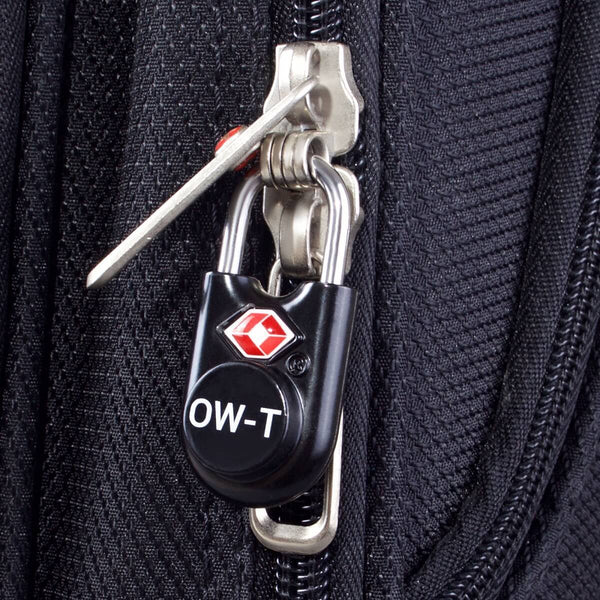 OW Travel TSA Approved Padlocks Luggage Case Locks for Suitcases, Backpacks, Gym Locker - Key Padlock Black - Lightweight Key Padlock
