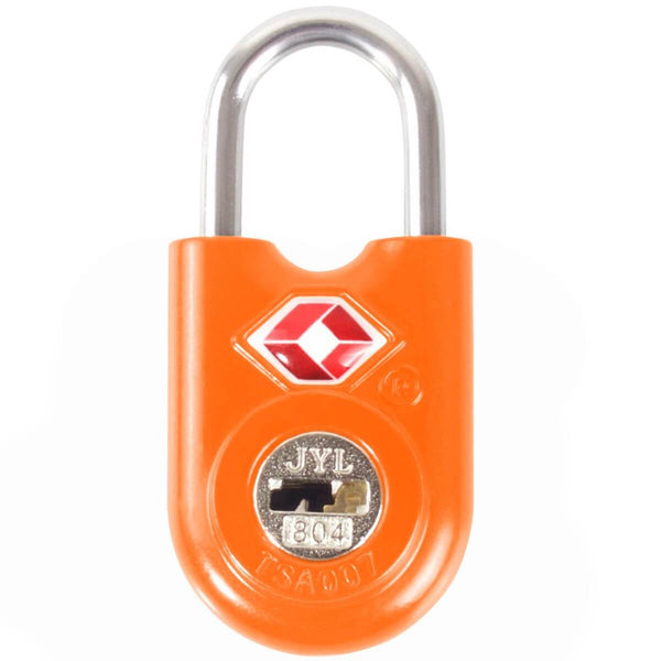 OW Travel TSA Approved Padlocks Luggage Case Locks for Suitcases, Backpacks, Gym Locker - Key Padlock Orange - Durable Key Padlock