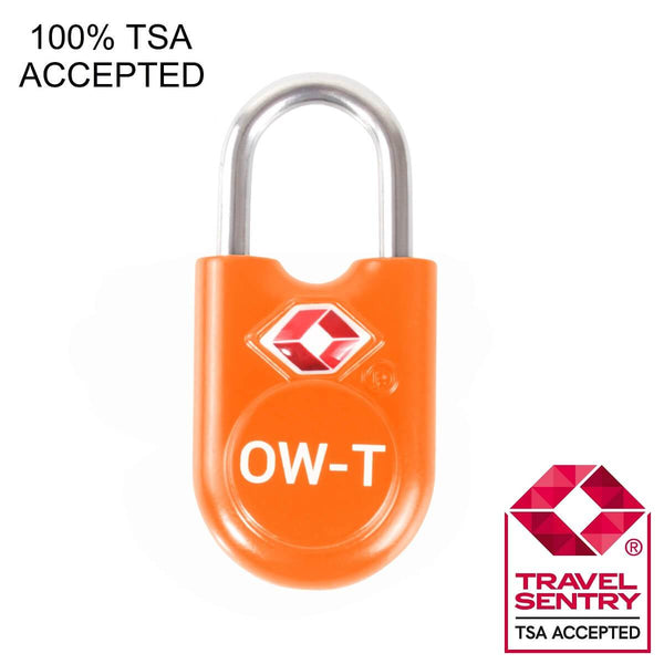 OW Travel TSA Approved Padlocks Luggage Case Locks for Suitcases, Backpacks, Gym Locker - Key Padlock Orange - TSA Accepted Key  Padlock