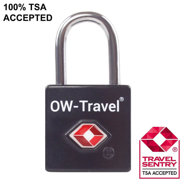 ✅ TSA Key Padlock - Heavy Duty Lock - Travel Sentry Approved for Suitcases, Luggage, Gym Lockers and Tool Boxes - One-Wear