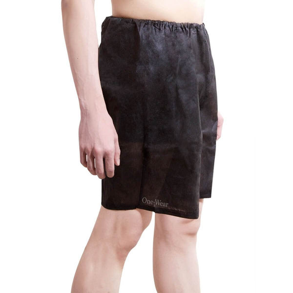 One-Wear Disposable Boxer Shorts Underpants for Hospital Travel Spa and Emergency - PolyPro Black - Premium Quality Disposable Boxer Shorts