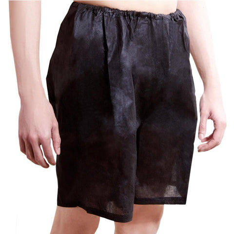 One-Wear Disposable Boxer Shorts Underpants for Hospital Travel Spa and Emergency - PolyPro Black - Supersoft Fabric Disposable Boxer Shorts