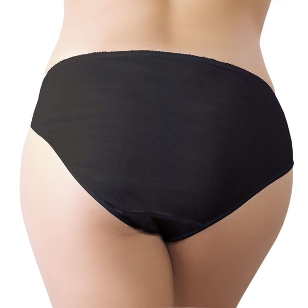 One-Wear Disposable Briefs Knickers Panties for Maternity Hospital Travel and Post Pregnancy - Cotton Black - Lightweight Disposable Cotton Underwear