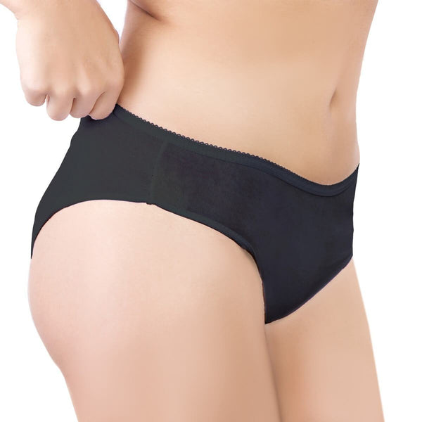 One-Wear Disposable Briefs Knickers Panties for Maternity Hospital Travel and Post Pregnancy - Cotton Black - Premium Quality Disposable Cotton Underwear