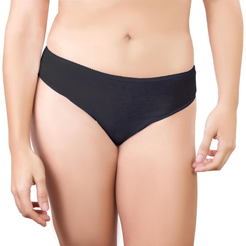 One-Wear Disposable Briefs Knickers Panties for Maternity Hospital Travel and Post Pregnancy - Cotton Black - Super Soft Disposable Cotton Underwear