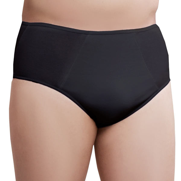 One-Wear Disposable Briefs Pants Underpants for Hospital Travel Spa and Emergency - Cotton Black - Premium Quality Disposable Cotton Underwear