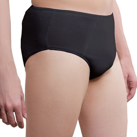 One-Wear Disposable Briefs Pants Underpants for Hospital Travel Spa and Emergency - Cotton Black - Super Soft Disposable Cotton Underwear