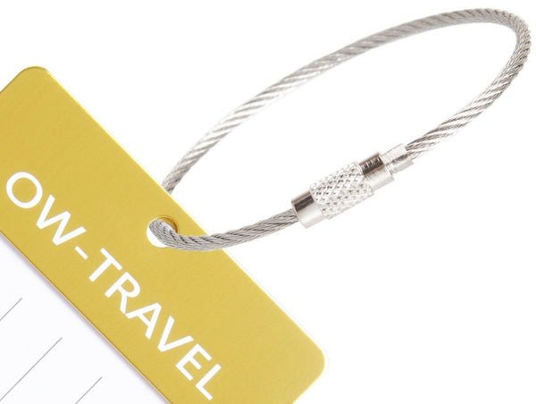 ✅ Metal Luggage Tags for Suitcases - Business Card Holder - Personalised Travel Label Name Identifiers Ideal Suitcase Tag, Bag Tags, Backpack and Baggage Tags - One-Wear