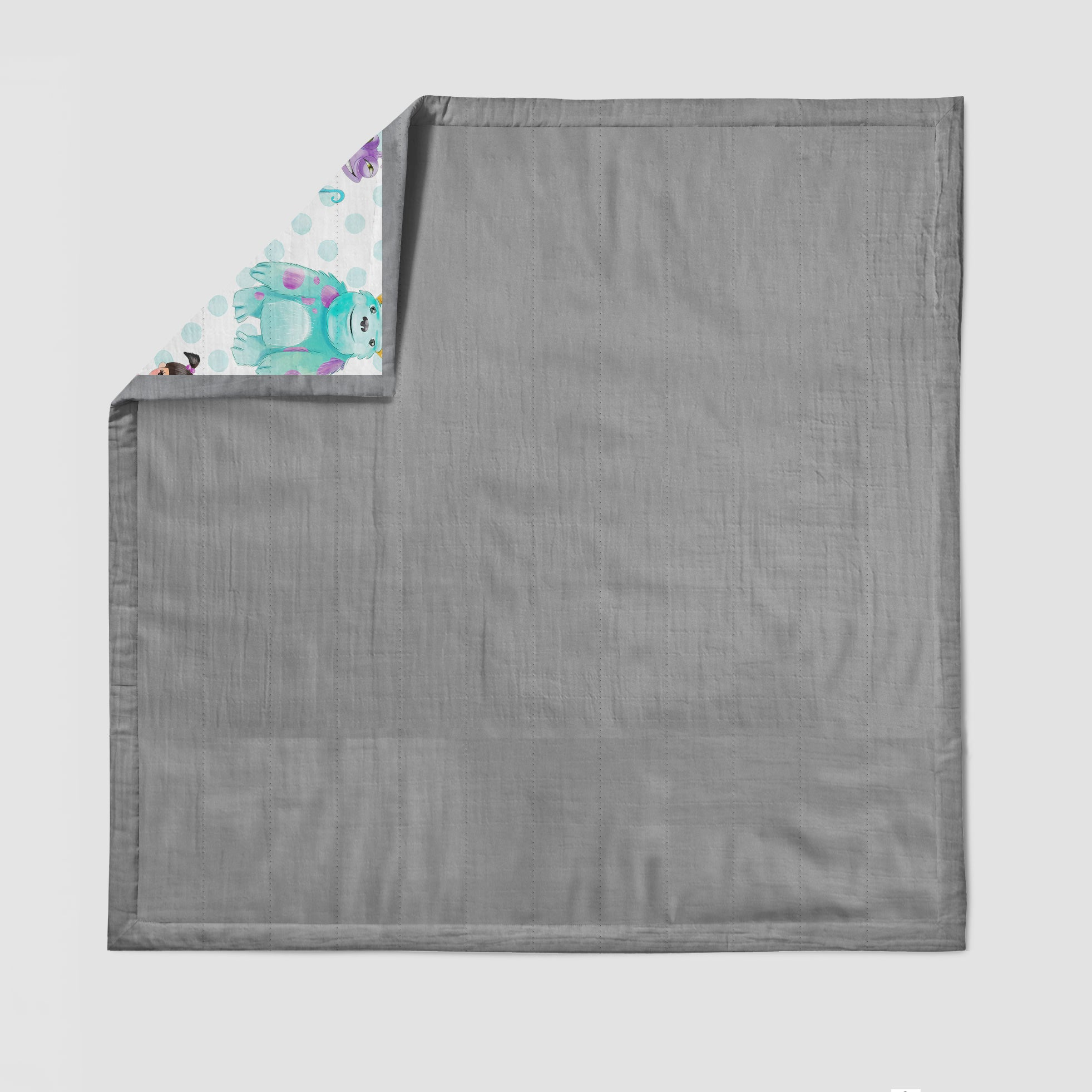 Little Monsters Deluxe Muslin Quilt