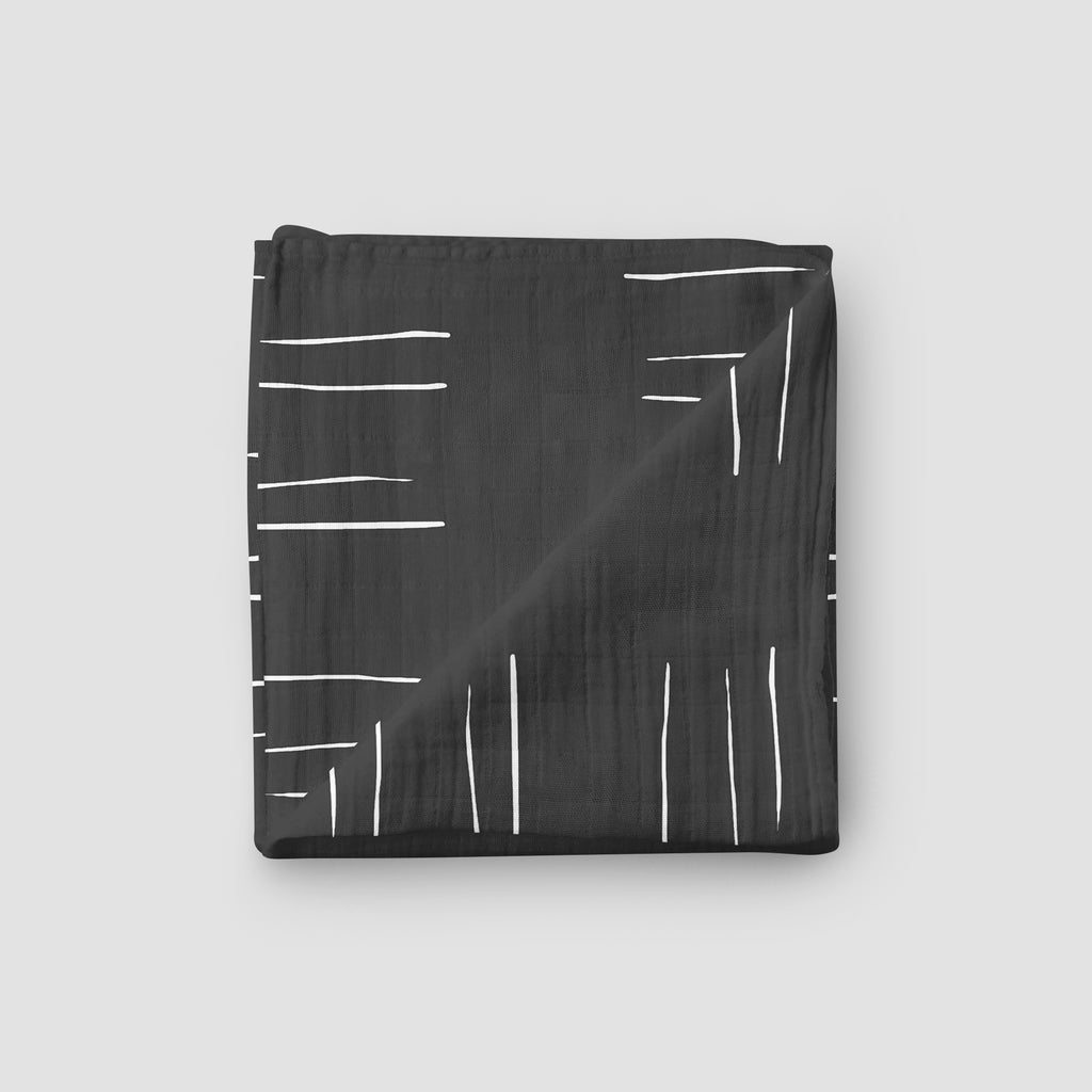 Charcoal Mudcloth