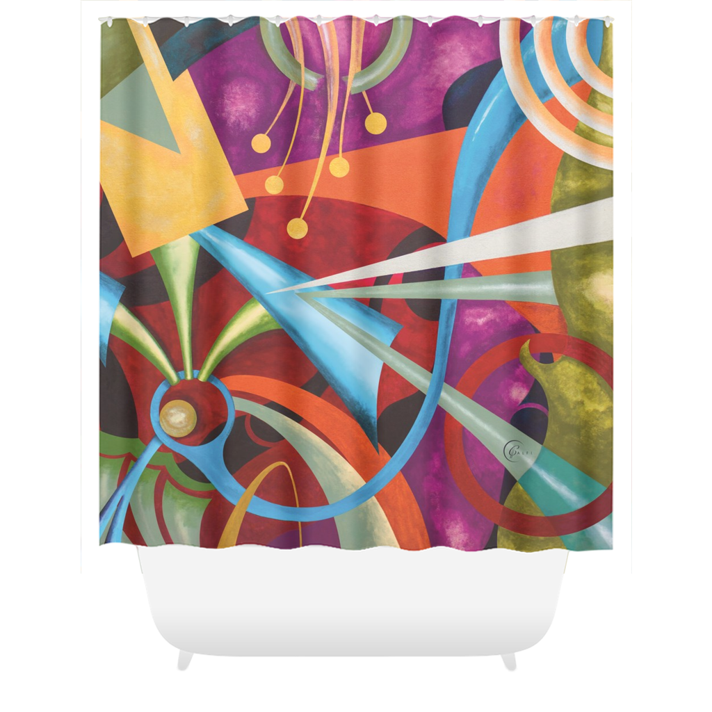 Shower Curtain: Scarlet Malaga - CALFI