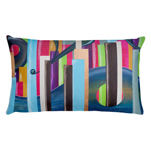 Lumbar Pillow: Gaudy Skyscrapers - CALFI