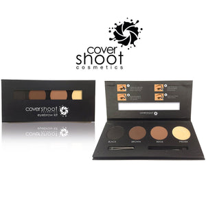 Covershoot Cosmetics - 3 Colour Eyebrow Powder Primer Palette