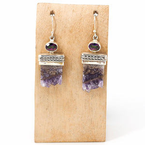Amethyst & Mystic Topaz Earrings