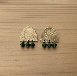 beaded earrings jaci riley jewelry beaded stud earrings brass earrings