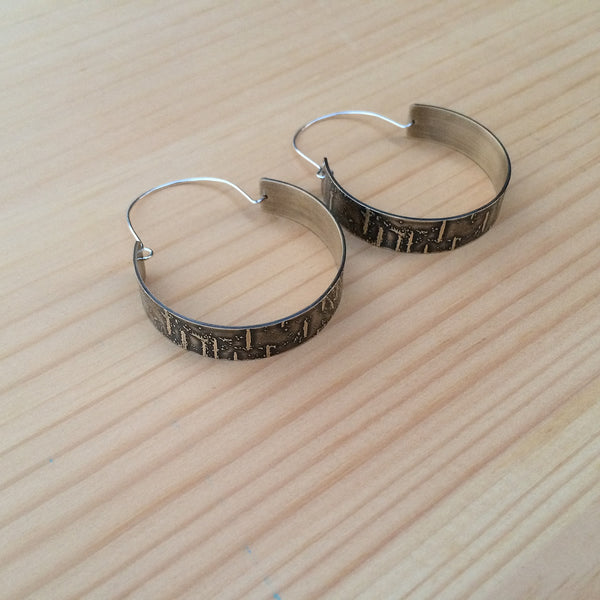birch bark hoops