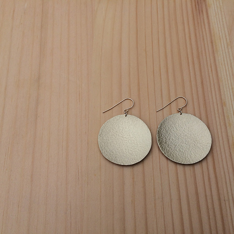 hammered brass earrings jaci riley jewelry
