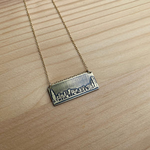 gold chicago skyline necklace jaci riley jewelry