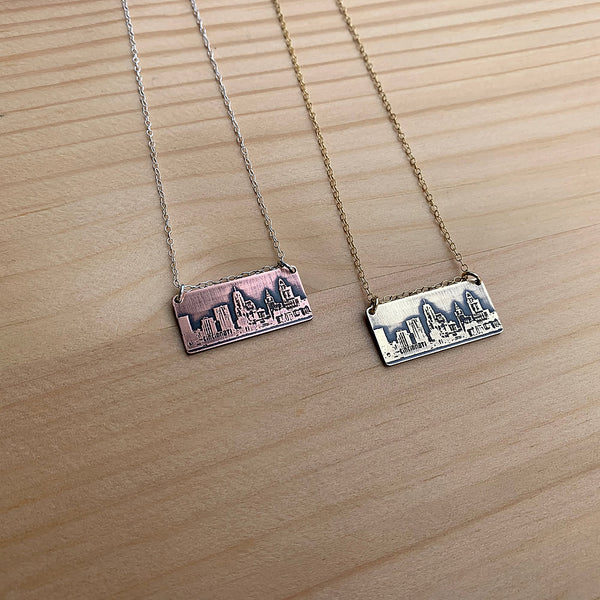 Cincinnati Ohio skyline necklace