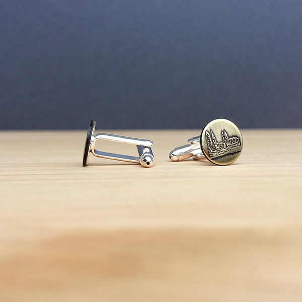 Cleveland Ohio skyline cufflinks