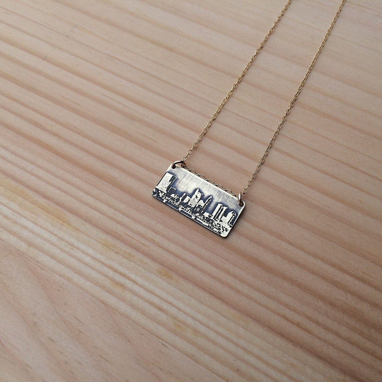 Columbus Ohio skyline necklace