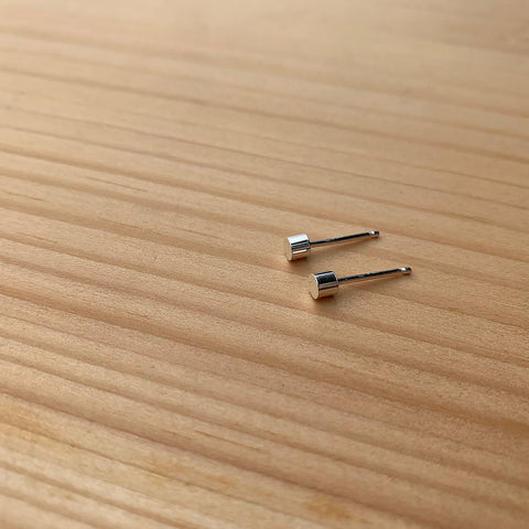 tiny cylinder stud earrings