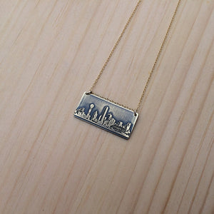 Dallas Texas skyline necklace