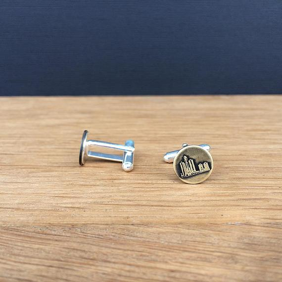 Detroit Michigan skyline cufflinks