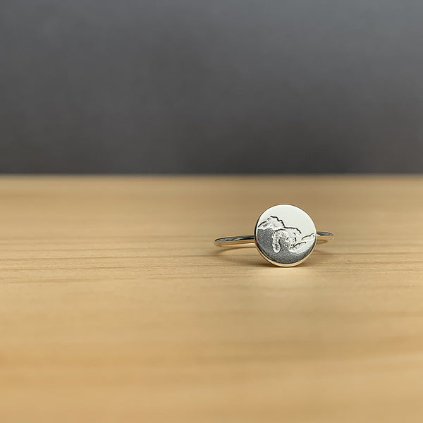 The Great Lakes ring in sterling silver