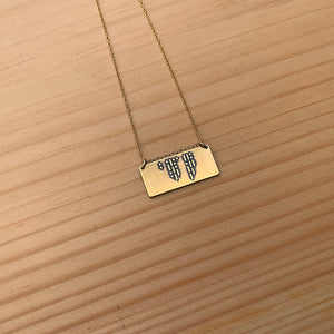 I love you necklace in Morse code
