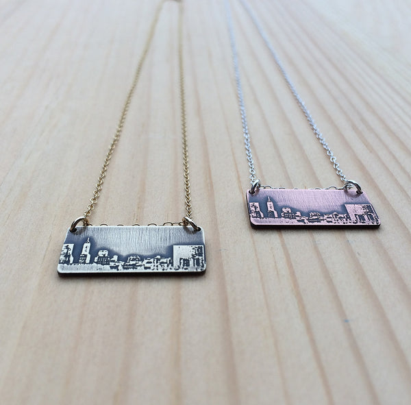 Indianapolis Indiana skyline necklace