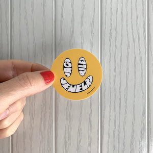 happy face sticker